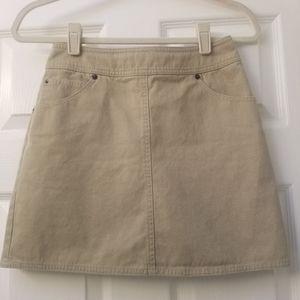 Classic Gap Khaki Denim Mini Skirt